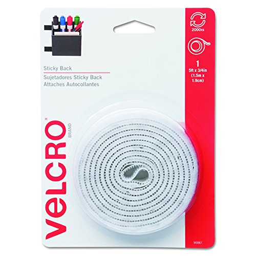 VELCRO Brand - Sticky Back Hook & Loop Fastener Tape with Dispenser, 3/4