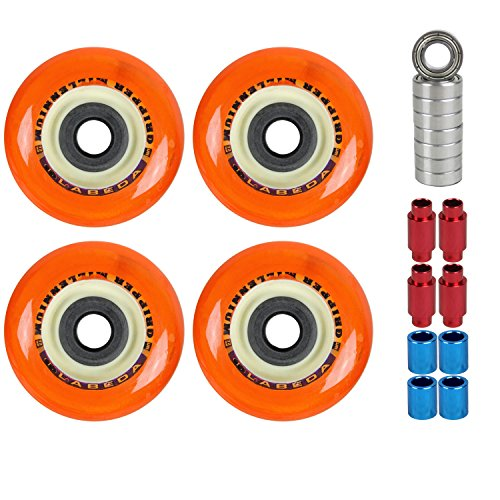 Labeda Wheels Roller Hockey Millennium Gripper Micro 72mm Soft 4 Pack W/Bearings ()