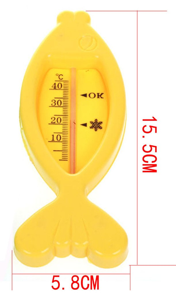 Fish Baby Bath Thermometer Floating Baby Bath Thermometer (Yellow)