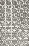 Unique Loom Uptown Collection by Jill Zarin Collection Geometric Modern Gray Area Rug (4′ x 6′)