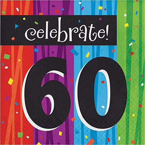 - Milestone Celebrations 60th Birthday Napkins, 48 ct