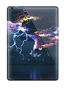 Excellent Ipad Air Case Tpu Cover Back Skin Protector Angry Volcano
