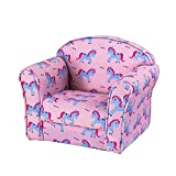 Kids Children's Upholstered Armchairs Girl Boy Bedroom Playroom Seating Chair (Unicorn)