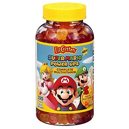 L'il Critters Super Mario Power Ups Complete Multivitamin Gummies, 190ct -