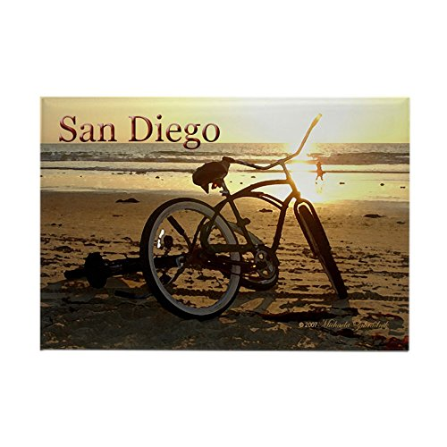 CafePress San Diego Artsie Bike Rectangle Magnet Rectangle Magnet, 2