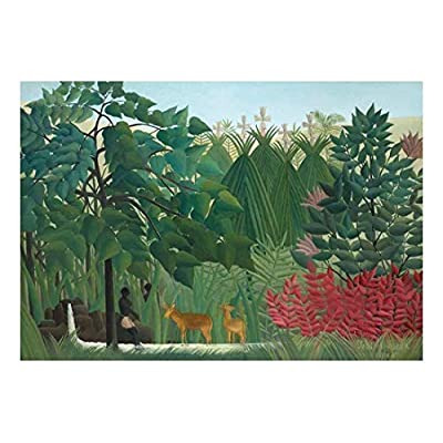 Premium Product, Stunning Style, The Waterfall by Henri Rousseau French Post Impressionism Naive Primitivism Peel and Stick Large Wall Mural Removable Wallpaper