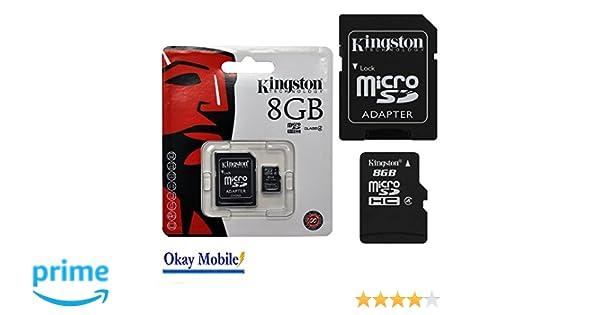 Original Micro SD Kingston 8 GB tarjeta de memoria para Samsung Galaxy J5 Duos - 8 GB