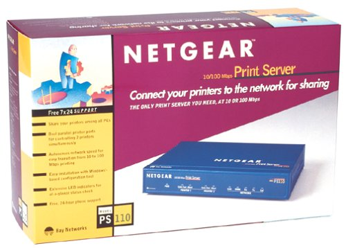 Netgear PS110 10/100 Print Server with 2 Parallel Ports by NETGEAR