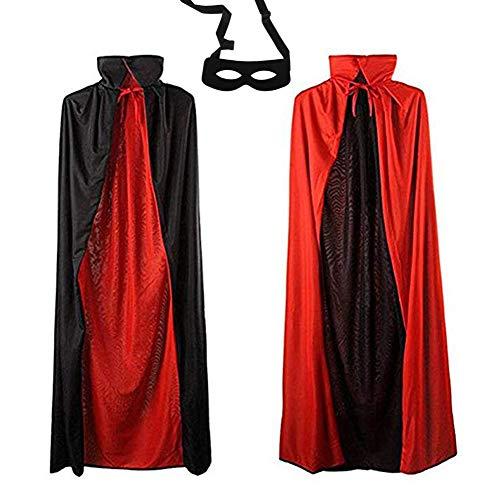 Mofvg Vampire Cape Halloween Cloak Robe Costume Red