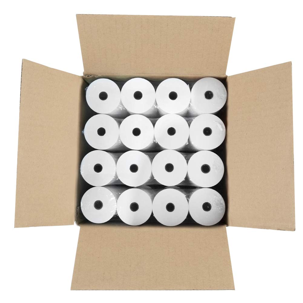 MFLABEL Thermal Receipt Paper Rolls 3-1/8 x 230ft (32 Rolls) by MFLABEL