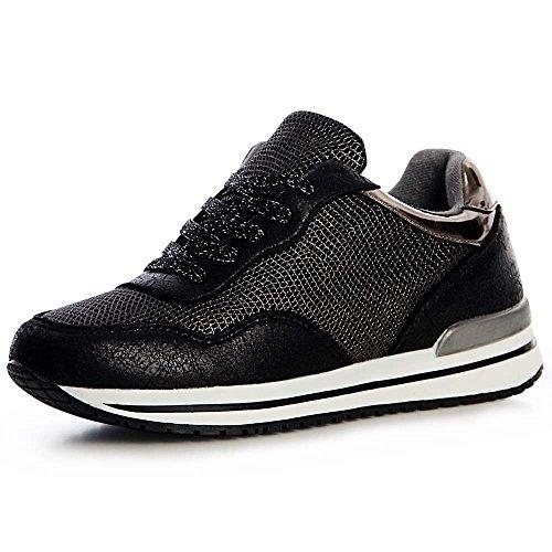 Topschuhe24 De Noir Baskets Femmes 863 Chaussures Sport Or0wO4qx