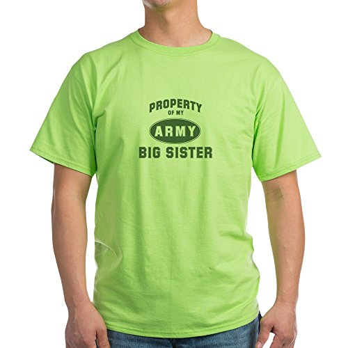 CafePress Property Of My Big Sister Ash Grey T-Shirt - 100% Cotton (Sister Ash Grey T-shirt)
