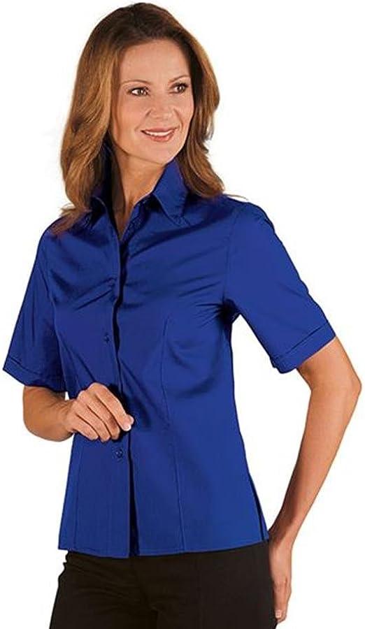 Camisa Manga Corta para Mujer Azul Royal: Amazon.es: Ropa y accesorios