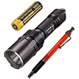 Nitecore TM03 CREE XHP70 LED Flashlight, 2800 lm, Includes 1x IMR18650D Battery and Free A&A Pen