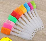 Huyenkute Wholesale 500pcs Multi Color Silicone Basting Pastry Brush Oil Brushes for Cake Bread Butter Baking Safety BBQ Barbeque Useful
