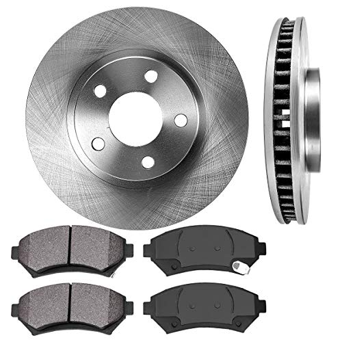 FRONT 303 mm Premium OE 5 Lug [2] Brake Disc Rotors + [4] Metallic Brake Pads ()