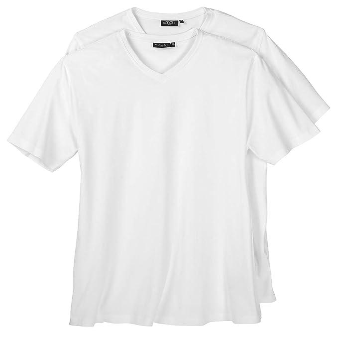 Pack doble de camisetas Kitaro blancas en tallas XXL , 2xl-8xl:10xl