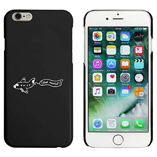 Noir 'Just Married' étui / housse pour iPhone 6 & 6s (MC00017961)