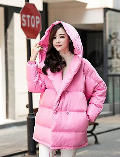 Others 3xl out Solid Cotton Sleeves amp;SHANGYI Striped Polypropylene Down Active Coat Acrylic Print TT Going Simple Women's Long F1fnOp