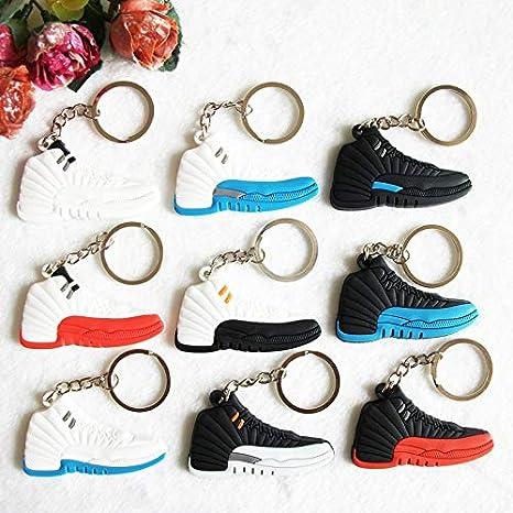 Amazon.com: Mct12 - Mini Silicone Jordan 12 Keychain Bag ...