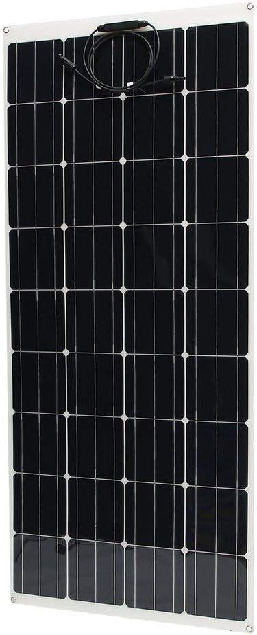 Solar-Akku-Ladeger/ät flexibel 002fr Universal monokristallines Solarpanel Schwarz // Wei/ß 250 W