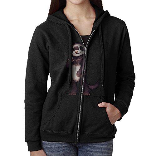 KJhsfub Casual Womens Brown Otter Animal Full-Zip Sweatshirt Hoodie Jacket Medium Magic Kingdom Train