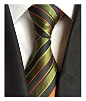 Secdtie Men's Striped Silk Tie Jacquard Patterned Necktie many colors available
