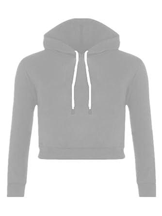 Aoliait Ocasionales Sudaderas con Capucha Mujer Universidad Color Sólido Cropped Sweater Hoodies Sudadera Personalizadas Pullover: Amazon.es: Ropa y ...