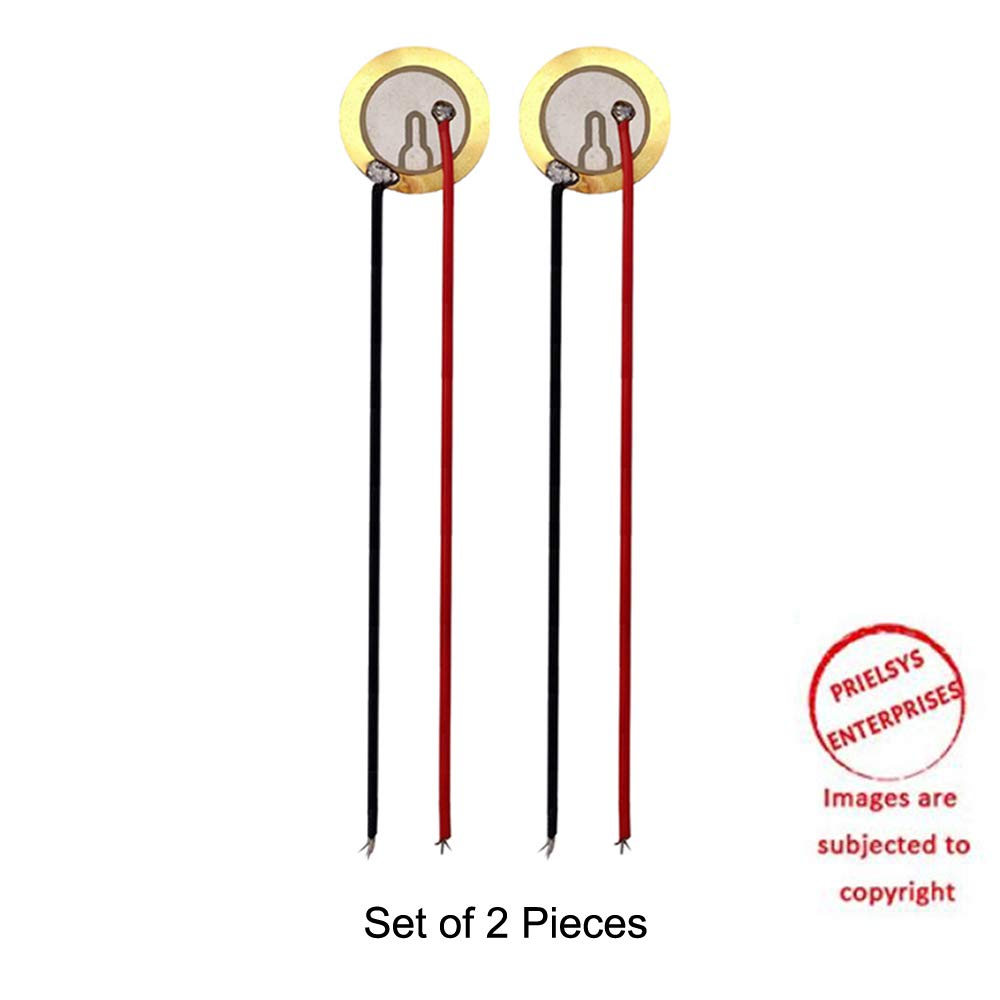 2 pieces 27mm gold color Piezo Discs - piezoelectric transducer piezoelectric sensor piezoelectric element with 25 centimeter 2 wire leads (B07KKHGSL3) Amazon Price History, Amazon Price Tracker