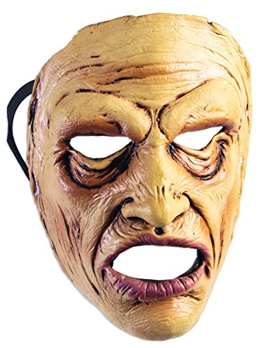 Wow Man Frontal Face Mask Scary Old In Pain Halloween Adult Costume (World Of Warcraft Masks)