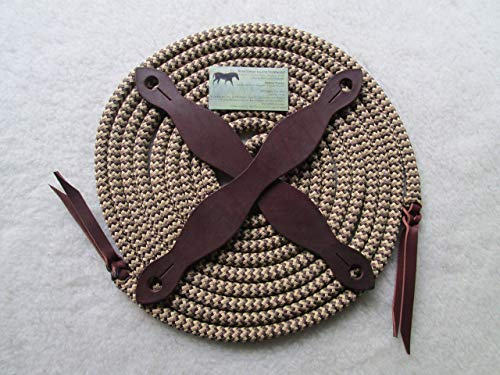 22' Yacht Rope Mecate w Slobber Straps Snakeskin Tan/Brown Pattern, Poppers both ends
