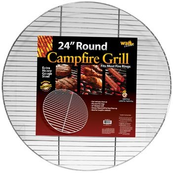 1 X Round Campfire Grill Grid for Fire Rings (Grilling Ring)