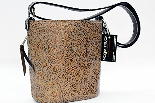Concealed Carry Purse - CCW Handbags Bronze Leather - Bucket