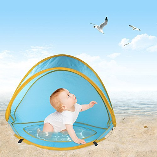 Gembaby Beach Pop Up Tent Beach Umbrella,Sun Protection Shelters Baby Pool by Gembaby
