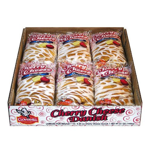 Cloverhill Bakery Cherry Cheese Danish - 12/4.25oz - CASE PACK OF 2