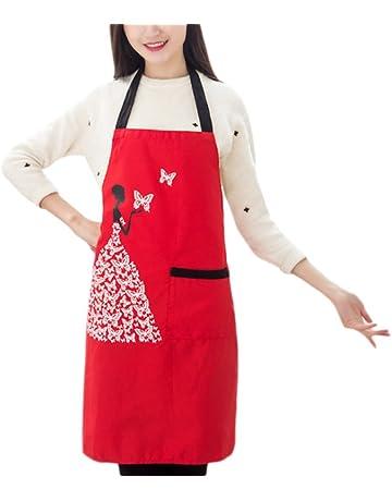 Gespout Delantales de Cocinero Overoles Cocinar Delantal de Cocina Hornear Hogar Clean sin Mangas Invierno Delantal