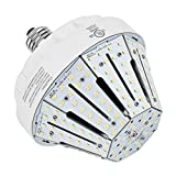 New Sunshine 30W LED Corn Light Bulb for Indoor Outdoor E26 4946LM 5000K Cool White Replacement for 100W CFL/MH/HID/HPS for Low Bay Street Lamp Post Lighting Garage Factory Warehouse (30)