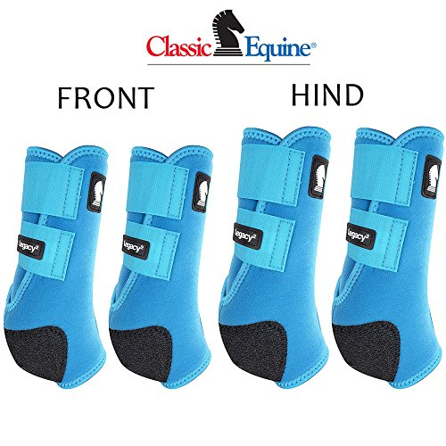 - Classic Equine MEDIUM LEGACY2 HORSE FRONT HIND SPORTS BOOTS 4 PACK TURQUOISE