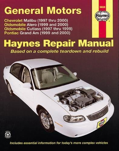 - GM Malibu, Alero, Cutlass & Grand AM, 1997 Thru 2003
