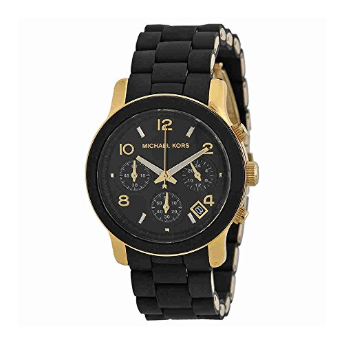 MK5191 Runway Black Stainless Steel Watch ()