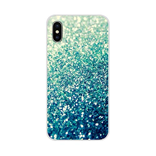 for Apple for iPhone X XR XS MAX 4 4S 5 5S 5C SE 6 6S 7 8 Plus for iPod Touch 5 6 Shell Cases Teal Blue Glitter,Images 8,for iPhone 7 (Ipod Touch 4 Gameboy Case)