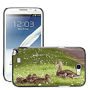 Super Stella Slim PC Hard Case Cover Skin Armor Shell Protection // M00144602 Duck Animal Young Young Animal Water // Samsung Galaxy Note 2 II N7100