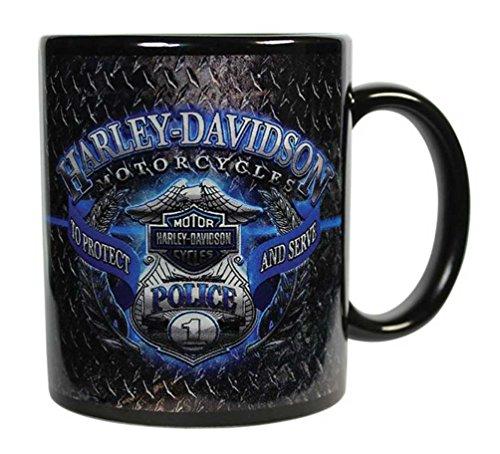 Harley-Davidson Police Original Ceramic Coffee Mug, 11 oz. Black CM126389
