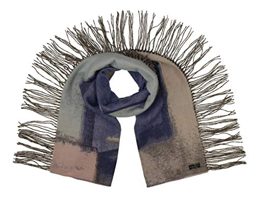 FRAAS Cashmink Winter Shawl Scarf With Abstract Side Fringes