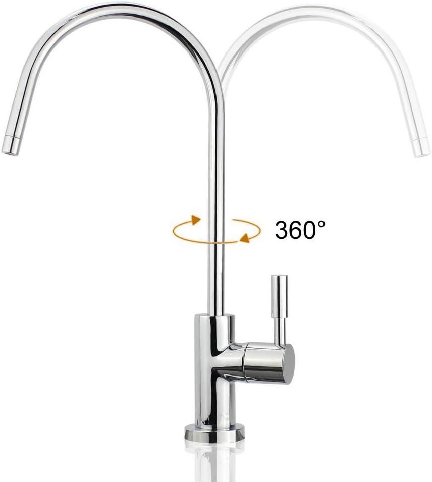 flexible Rotation /à 360/° Pour Osmoseur Mitigeur Acier inoxydable smardy UNO202 Robinet de Cuisine 6,35mm eau filtr/ée 1//4Zoll