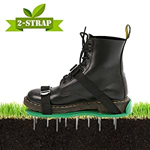 PATHONOR Lawn Aerator Shoes, Spiked Sandals Shoes with 26 Spikes and 2 Heavy Duty Metal Buckles for Ventilation on the Lawn or Terrace
