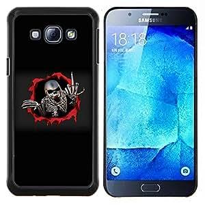 TECHCASE---Cubierta de la caja de protección para la piel dura ** Samsung Galaxy A8 ( A8000 ) ** --Dedo del metal Skeleton Medio