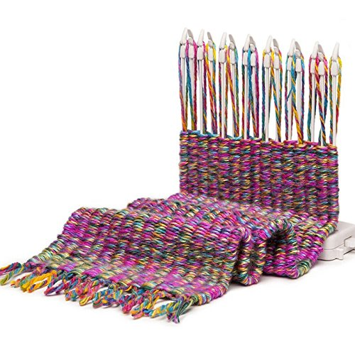 Maquina tejedora bufandas cuellos cojines ganchillo crochet ...