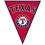 Amscan Timeless Texas Rangers Major League Baseball Pennant Banner, 12', Red
