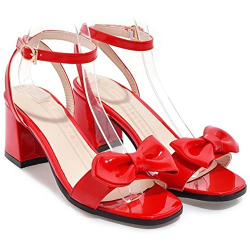 Coolcept Mujer Punta Abierta Sandalias Tacon Ancho Red